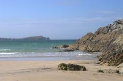 Praia da areia em Cornualha Imagem de Stock