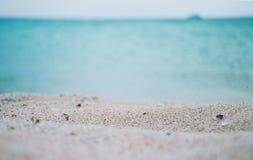 Praia da areia em Crimeia Fotografia de Stock