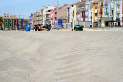 Praia da areia em Villajoyosa Fotografia de Stock Royalty Free