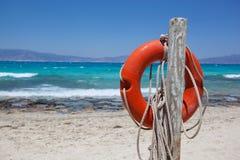 Praia da areia, ilha de Chrissi fotografia de stock royalty free