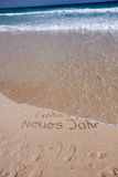 Praia da areia no verão Imagens de Stock Royalty Free