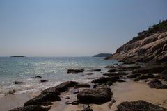 Praia da areia, parque nacional do Acadia Fotos de Stock Royalty Free