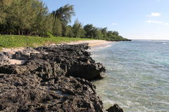Praia da aterrissagem de Tinian Imagem de Stock Royalty Free