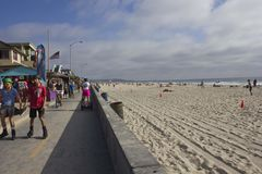 Praia da baía da missão em San Diego Fotos de Stock Royalty Free