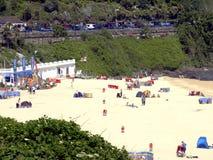Praia da baía de Carbis, Cornualha. Imagens de Stock