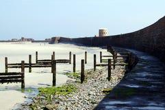 Praia da baía de Guernsey Vazon Fotos de Stock Royalty Free