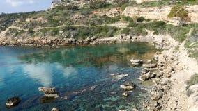 Praia da baía de Konnos, Protaras, Chipre, mar de Meditarian vídeos de arquivo