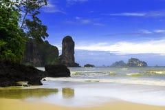 Praia da baía de Tonsai. Foto de Stock