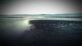 Praia da baixa maré imagens de stock