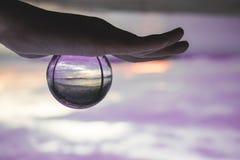 praia da bola de cristal Fotografia de Stock