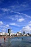 Praia da cidade Foto de Stock Royalty Free