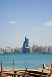 Praia da cidade de Ahu Dhabi Imagem de Stock