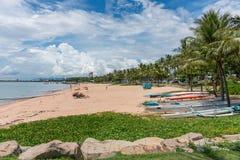 A praia da costa, Townsville, Austrália Imagens de Stock