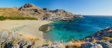 Praia da Creta, Grécia Fotografia de Stock