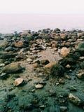 Praia da destruição Foto de Stock Royalty Free