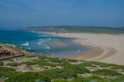 Praia da Dinamarca Bordeira do Praia perto de Carrapateira, Portugal Fotografia de Stock Royalty Free