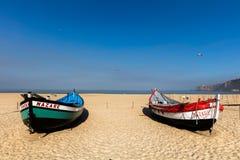 Praia da Dinamarca Nazare do Praia em Nazare, Portugal imagem de stock royalty free