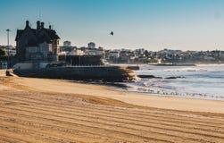 Praia da Duquesa beach in Cascais Portugal in the morning. In Cascais, Lisbon district, Portugal royalty free stock photos