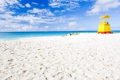Praia da empresa, Barbados fotografia de stock