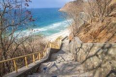Praia da escada Foto de Stock Royalty Free