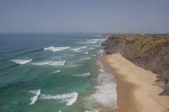 Praia DA Fateixa Ατλαντική παραλία Arrifana στο Αλγκάρβε, έτσι Στοκ Φωτογραφίες