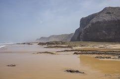 Praia DA Fateixa Ατλαντική παραλία Arrifana στο Αλγκάρβε, έτσι Στοκ Εικόνα