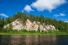 Praia da floresta Fotos de Stock