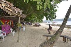 Praia da ilha. Imagens de Stock