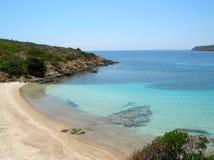 Praia da ilha de Asinara (Italy) Imagem de Stock