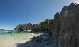 Praia da ilha de Caramoan Foto de Stock