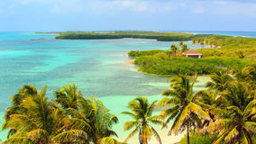 Praia da ilha de Contoy, México Foto de Stock Royalty Free