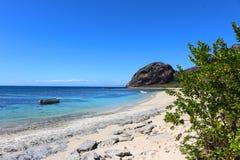 A praia da ilha de Kuata, ilhas de Yasawa, Fiji fotos de stock royalty free