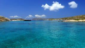 Praia da ilha de Leipsoi fotos de stock