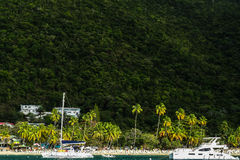 Praia da ilha de Virgin Foto de Stock
