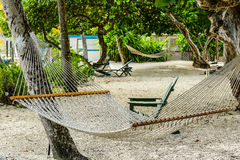 Praia da ilha de Virgin Imagem de Stock