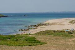 Praia da Ilha do Pessegueiro beach near Porto Covo, Portugal. Stock Images