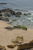 Praia da Ilha do Pessegueiro beach near Porto Covo, Portugal. Royalty Free Stock Photography