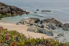 Praia da Ilha do Pessegueiro beach near Porto Covo, Portugal. Royalty Free Stock Photo
