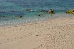 Praia da Ilha do Pessegueiro beach near Porto Covo, Portugal. Stock Image