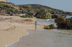 Praia da Ilha do Pessegueiro beach near Porto Covo, Portugal. Royalty Free Stock Images
