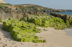 Praia da Ilha do Pessegueiro beach near Porto Covo, Portugal. Royalty Free Stock Image