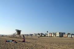 Praia da luz do sol de Califórnia imagens de stock royalty free