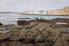 Praia DA Luz en la estación baja imágenes de archivo libres de regalías