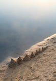 Praia da manhã Fotos de Stock Royalty Free
