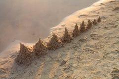Praia da manhã Imagem de Stock Royalty Free