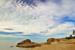 Praia da manhã Fotos de Stock
