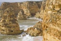 Praia da Marinha arkivfoto