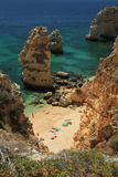 Praia da Marinha Royalty Free Stock Photography