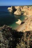 Praia da Marinha. A summer day at Marinha beach, Lagoa, Algarve, Portugal stock photography