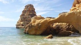 Praia DA Marinha Stock Afbeeldingen